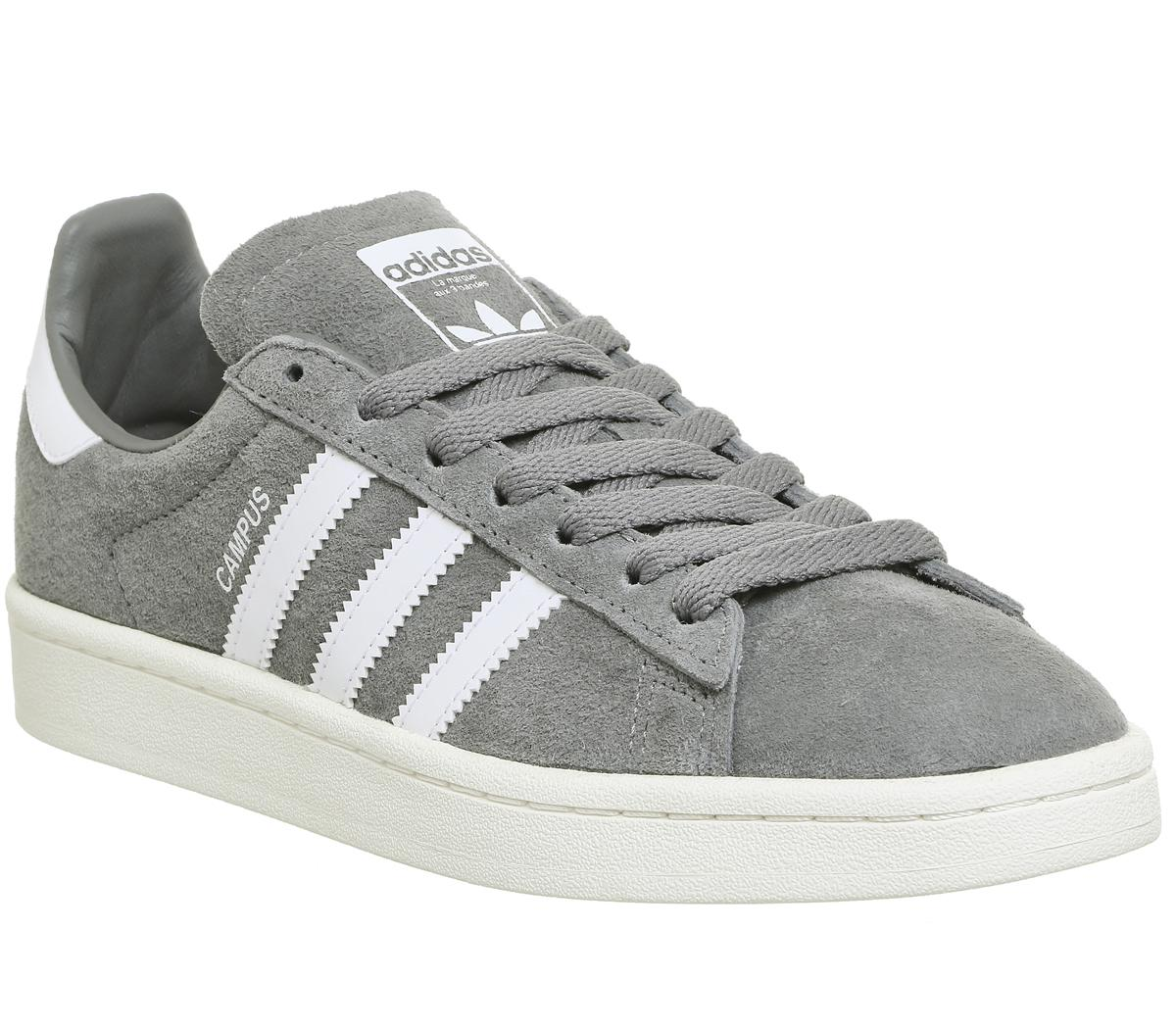 Mens Adidas Grey Suede Lace up Trainers Size UK 8 *Ex