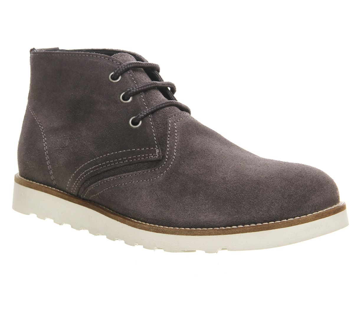 mens ask the missus grey suede lace up ankle boots uk size