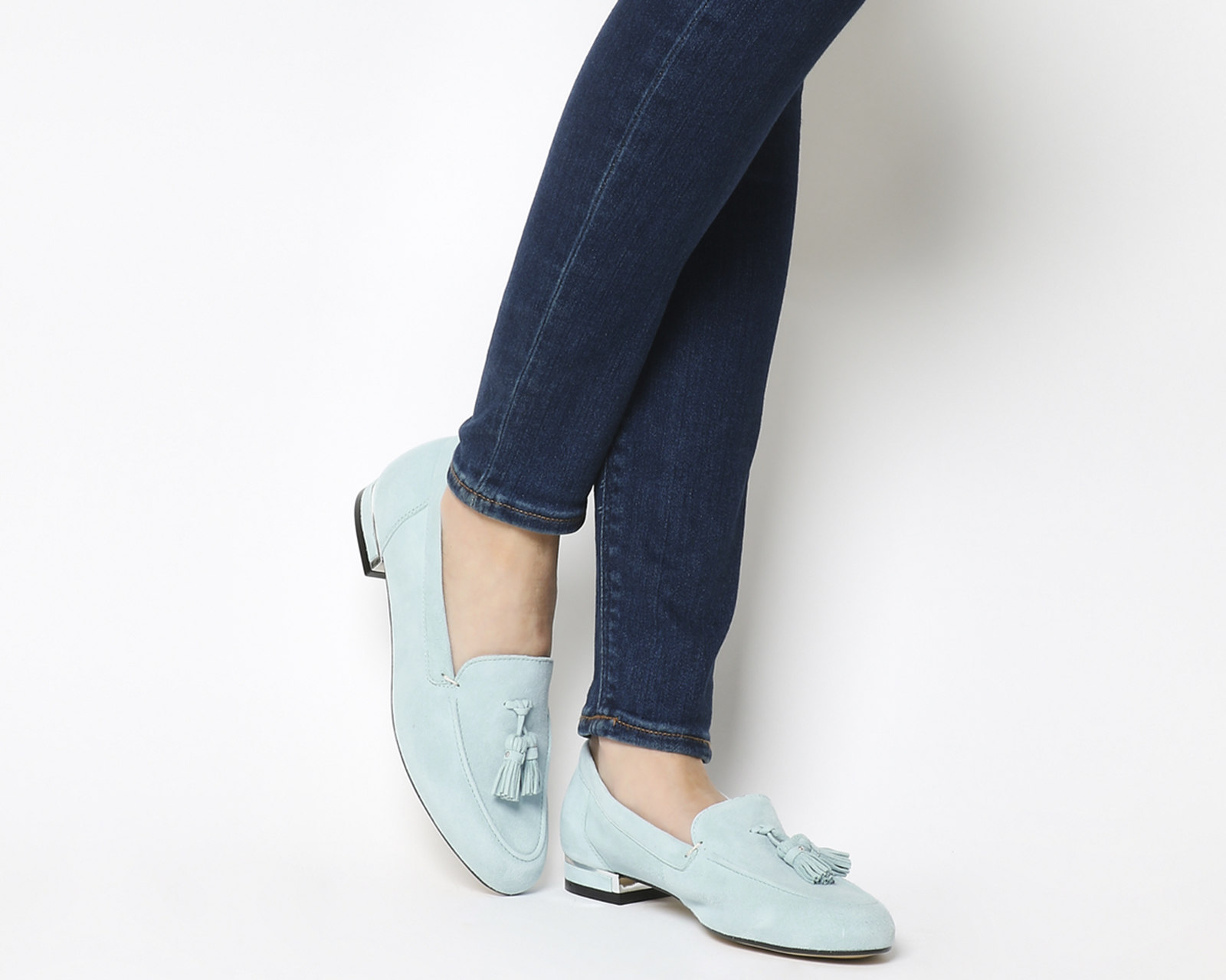 7285c06369d Sentinel Womens Office Blue Suede Slip on Loafers Size UK 7  Ex-Display
