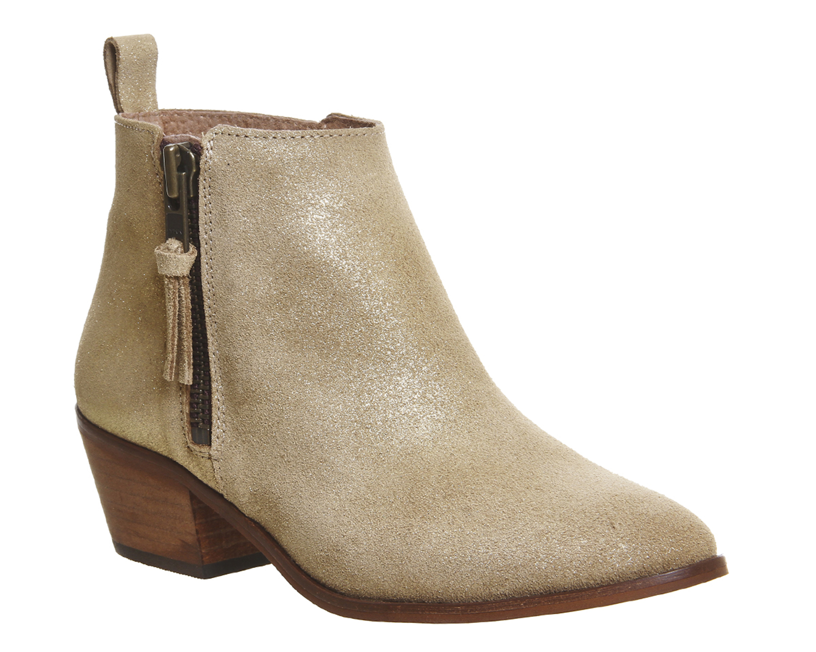Sentinel Womens Office Gold Suede Zip Ankle Boots Size UK 6  Ex-Display 633035565