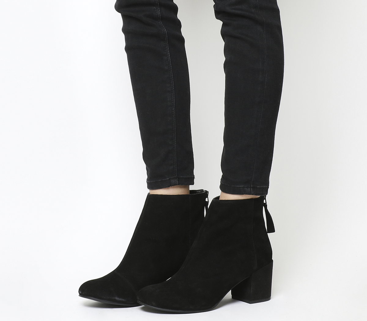 663dae053b0d7 Sentinel Womens Office Black Suede Zip Ankle Boots Size UK 5  Ex-Display