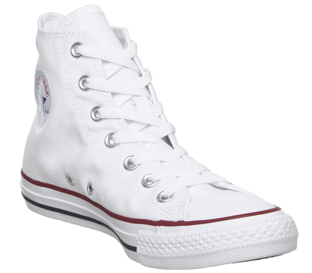 fac86ed806b Sentinel Mens Converse White Canvas Lace Up Trainers Size UK 7  Ex-Display