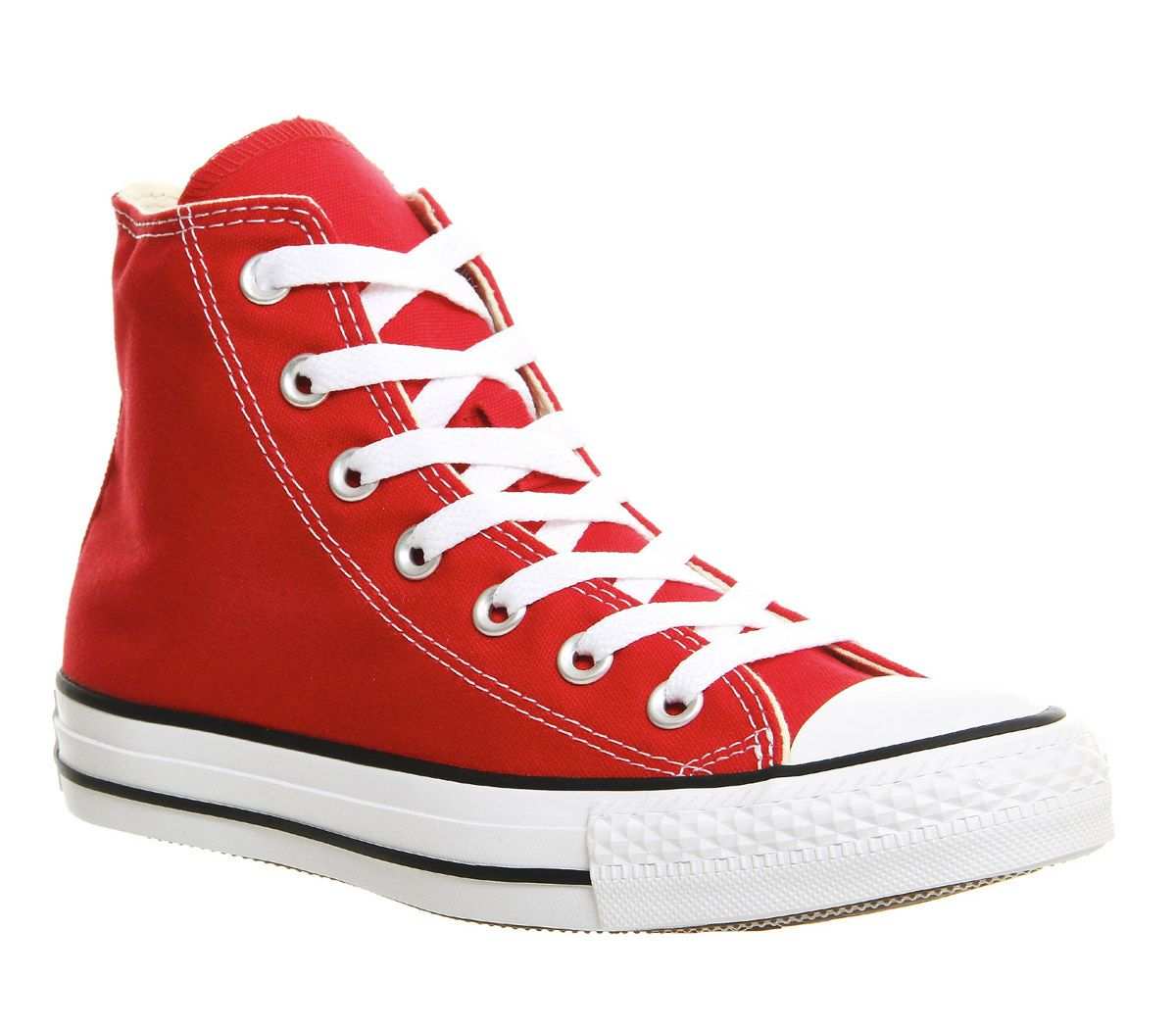 Sentinel Womens Converse Red Textile Lace Up Trainers UK Size 6 * Ex Display