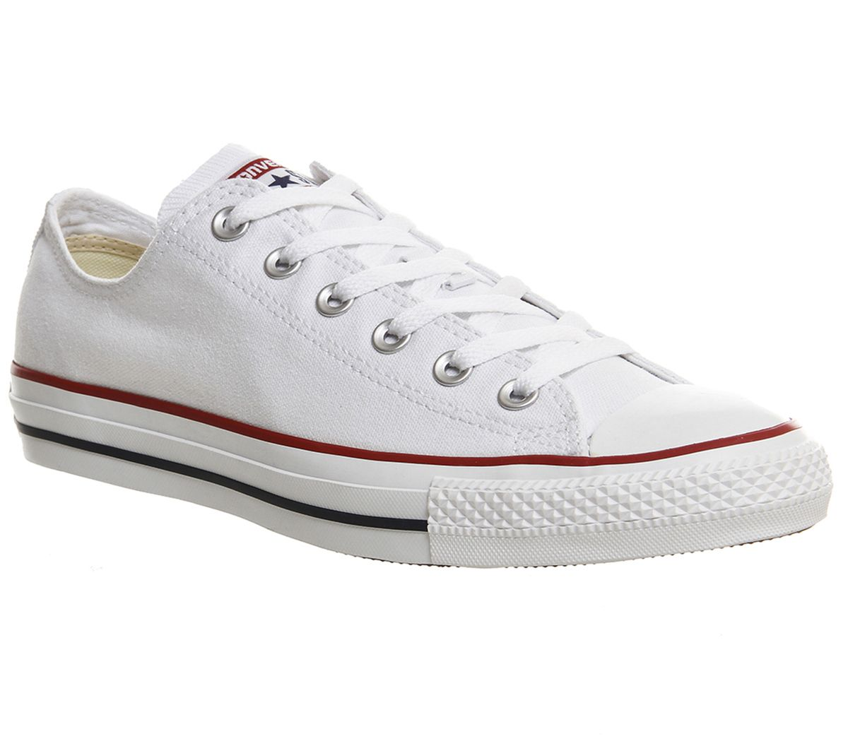 75847fc22da5 Sentinel Womens Converse White Canvas Lace Up Trainers Size UK 6  Ex-Display