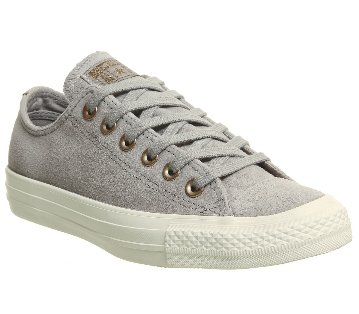 c05298592d7 Sentinel Womens Converse Grey Suede Lace Up Trainers Size UK 3.5  Ex-Display