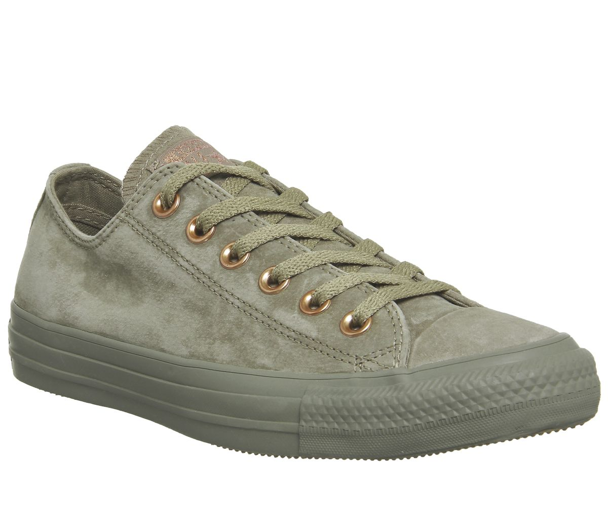 8489b99968f Sentinel Womens Converse Green Suede Lace Up Trainers Size UK 5.5  Ex- Display