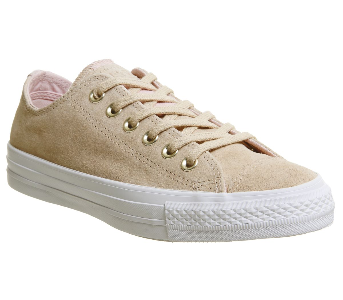 ba846b483c0ae5 Sentinel Womens Converse Cream Suede Lace Up Trainers Size UK 3  Ex-Display