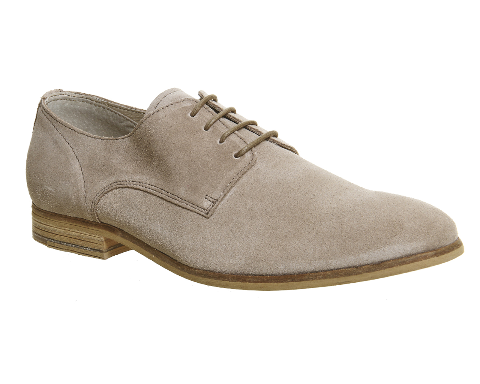 Mens Ask the Missus Beige Suede Lace up Casual shoes Size Ex-Display