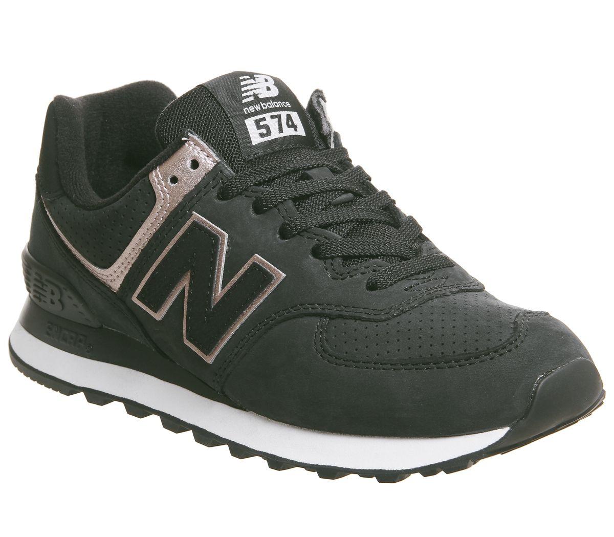 new product db5b7 58375 Détails sur Chaussures Femme New Balance en Daim Noir À Lacets Baskets  Taille UK 5   Ex-display- afficher le titre d origine