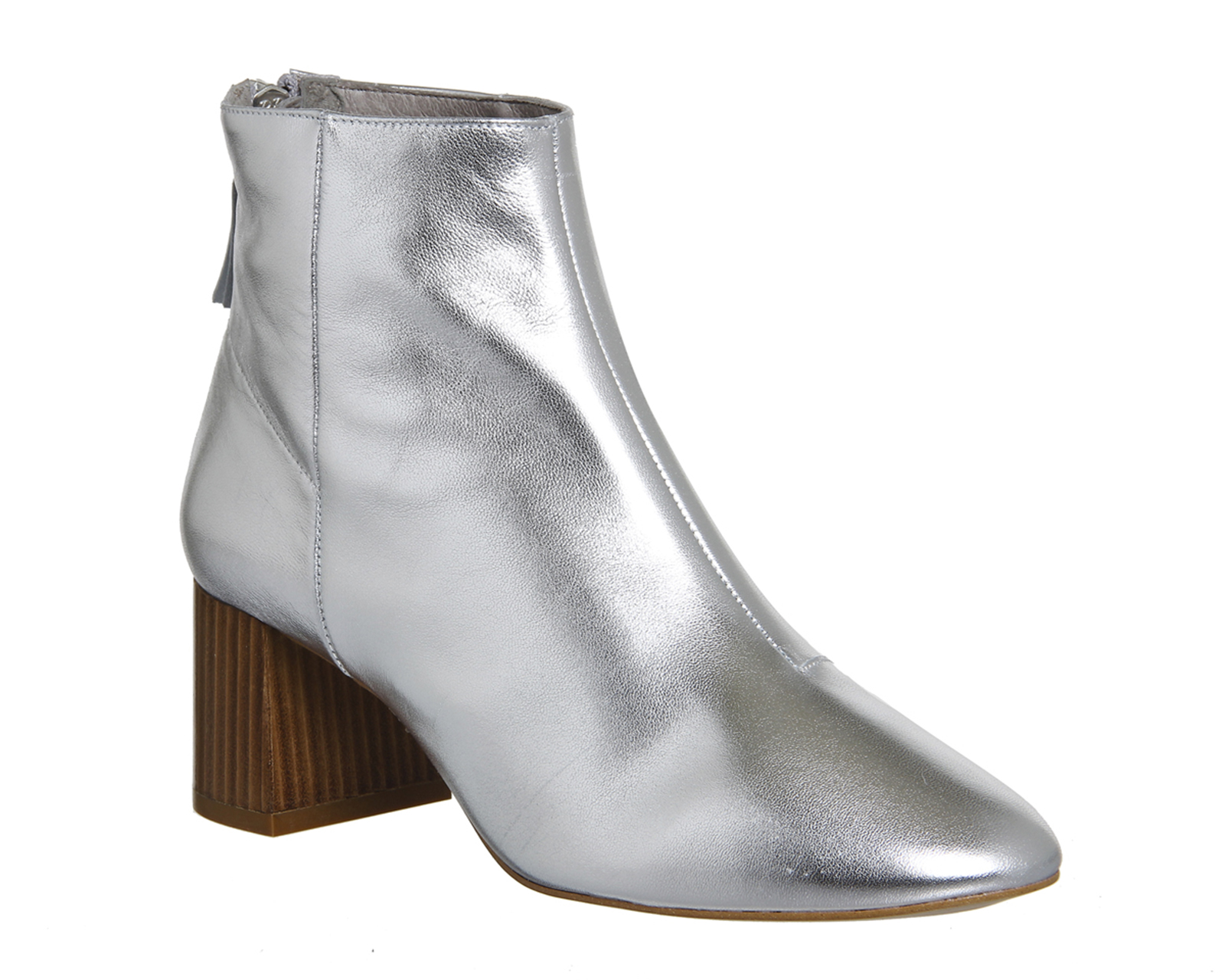 Sentinel Womens Office Silver Leather Zip Ankle Boots Size UK 8  Ex-Display 6d0d841d421