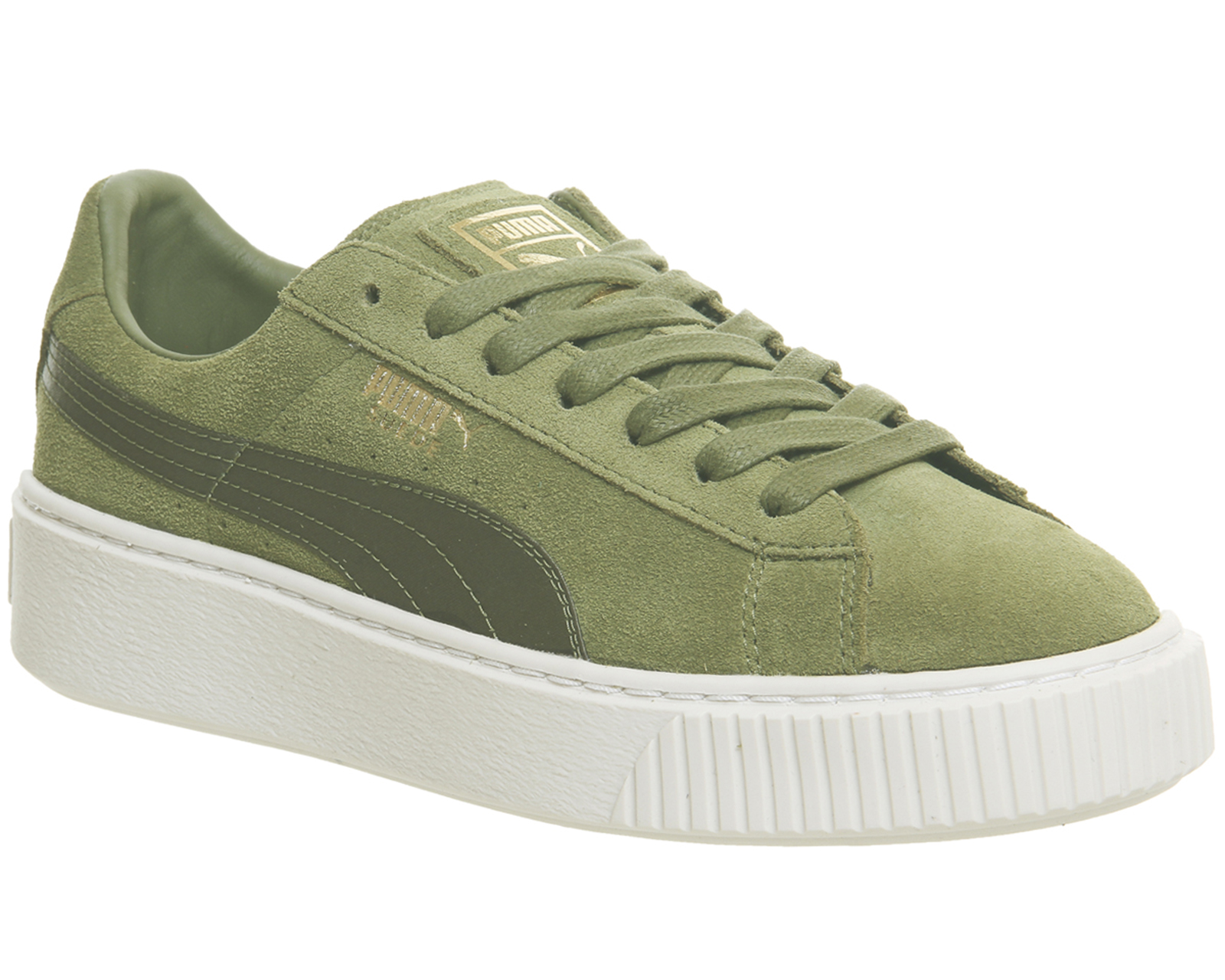 Womens Puma Green Suede Lace up Size UK 4  Ex Display 4057828869186 ... a7c08d945