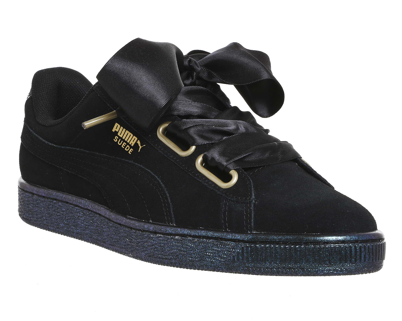 newest collection a5a12 f8d4b Womens Puma Black Suede Lace Up Trainers Size UK 3.5 *Ex ...