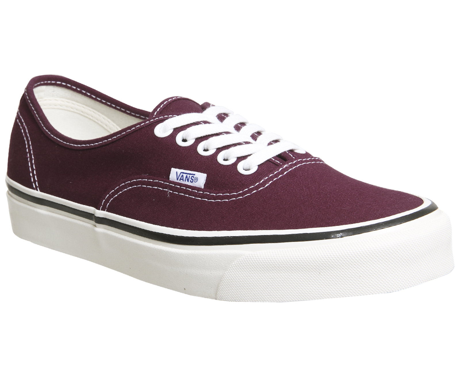 343b8be41f Sentinel Mens Vans Burgundy Canvas Lace Up Trainers Size UK 8  Ex-Display