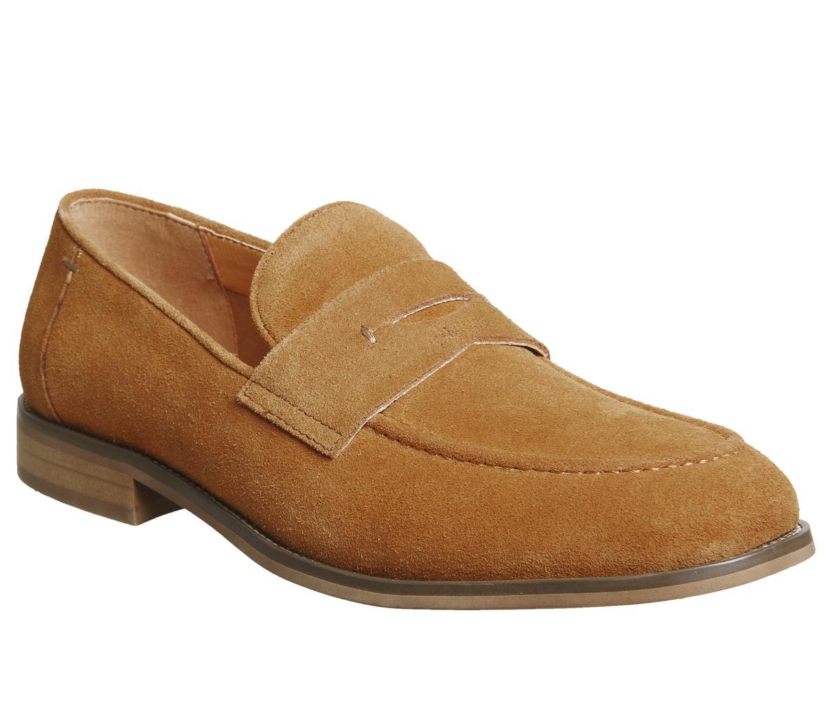 Mens Office orange Suede Slip On Loafers Size Ex-Display