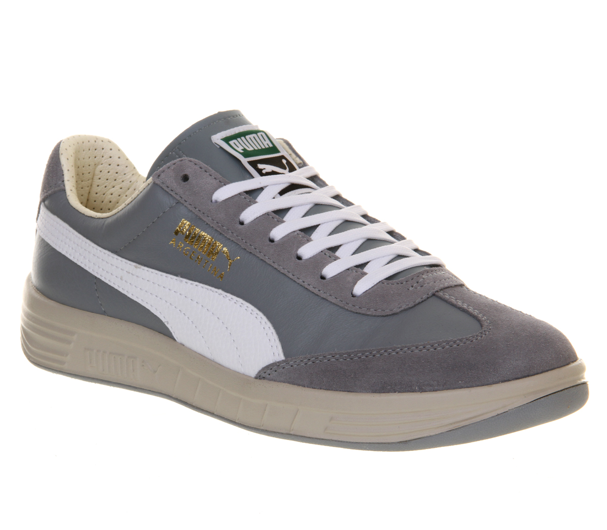 Puma Unisex Classic Suede Lace Up Trainer Steeple Grey / White-Grey-4 Size 4 61ryR42pb