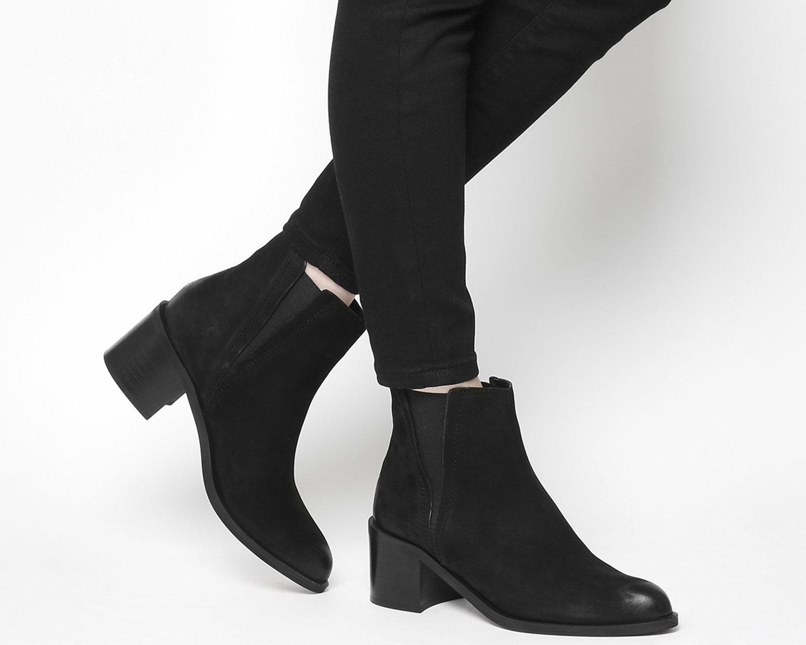 Sentinel Womens Office Black Suede Pull On Ankle Boots Size UK 5  Ex-Display d82ee10a275b