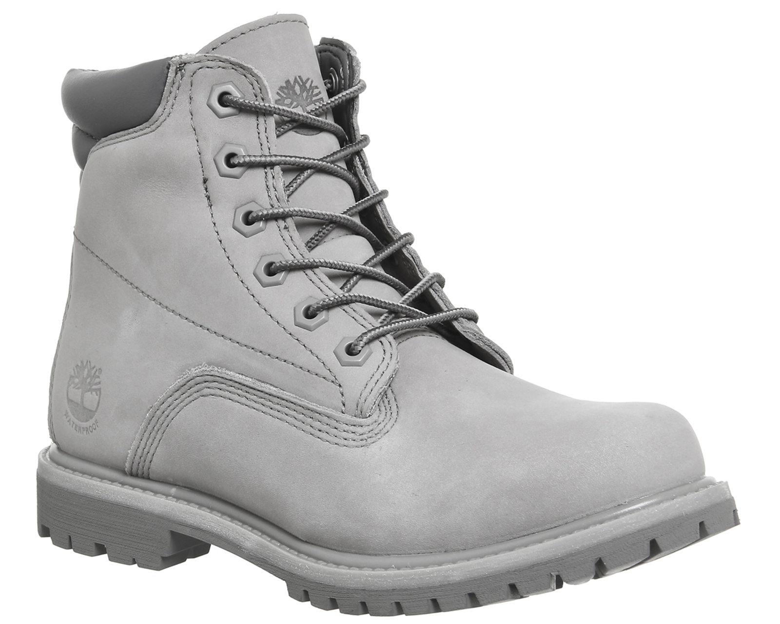 fed33204f39 Womens Timberland Grey Nubuck Lace Up Ankle Boots Size UK 6 *Ex ...