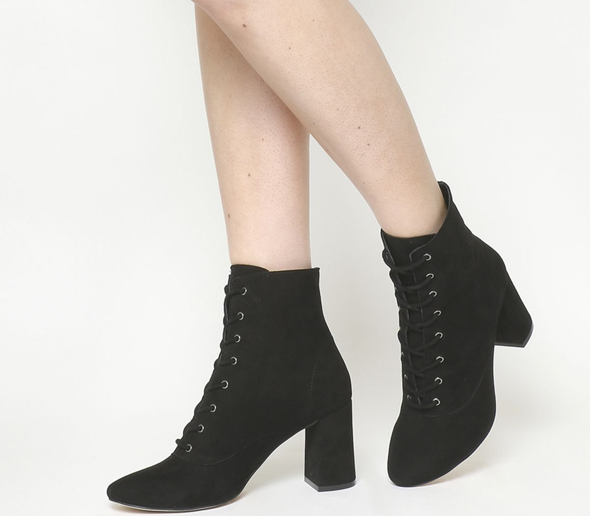 212e2a9bce3f8 Sentinel Womens Office Black Suede Lace Up Ankle Boots Size UK 7  Ex-Display