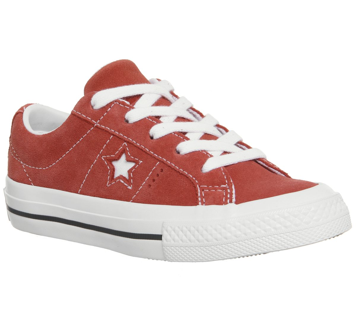 5d91b8a9b13902 Sentinel Kids Converse Red Suede Lace Up Trainers Size UK 2  Ex-Display