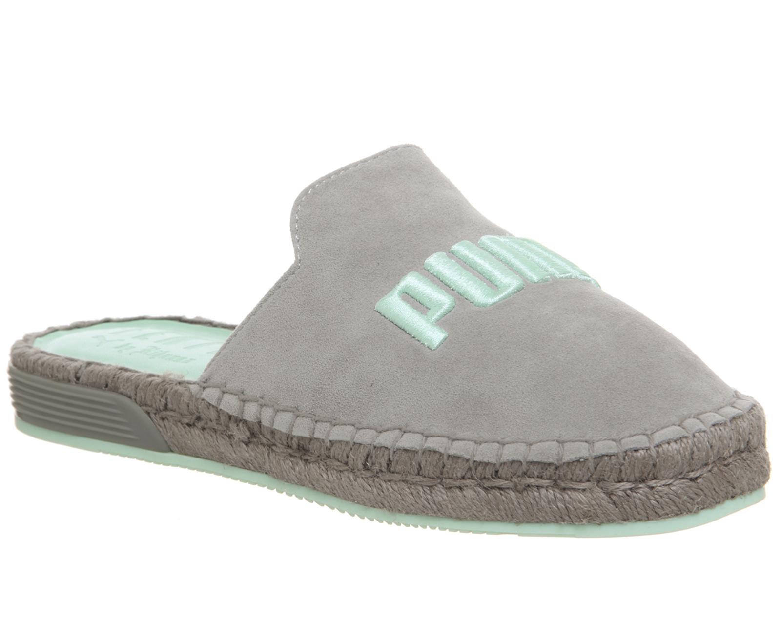 Sentinel Womens Puma Grey Suede Slip on Sandals Size UK 6  Ex-Display c78caab1cc