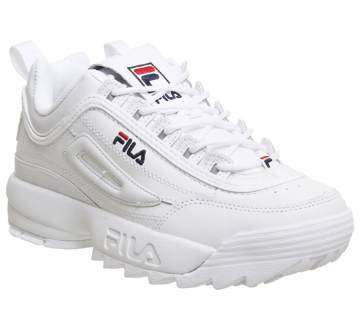 Details about Womens Fila White Synthetic Lace Up Trainers Size UK 4 *Ex-Display