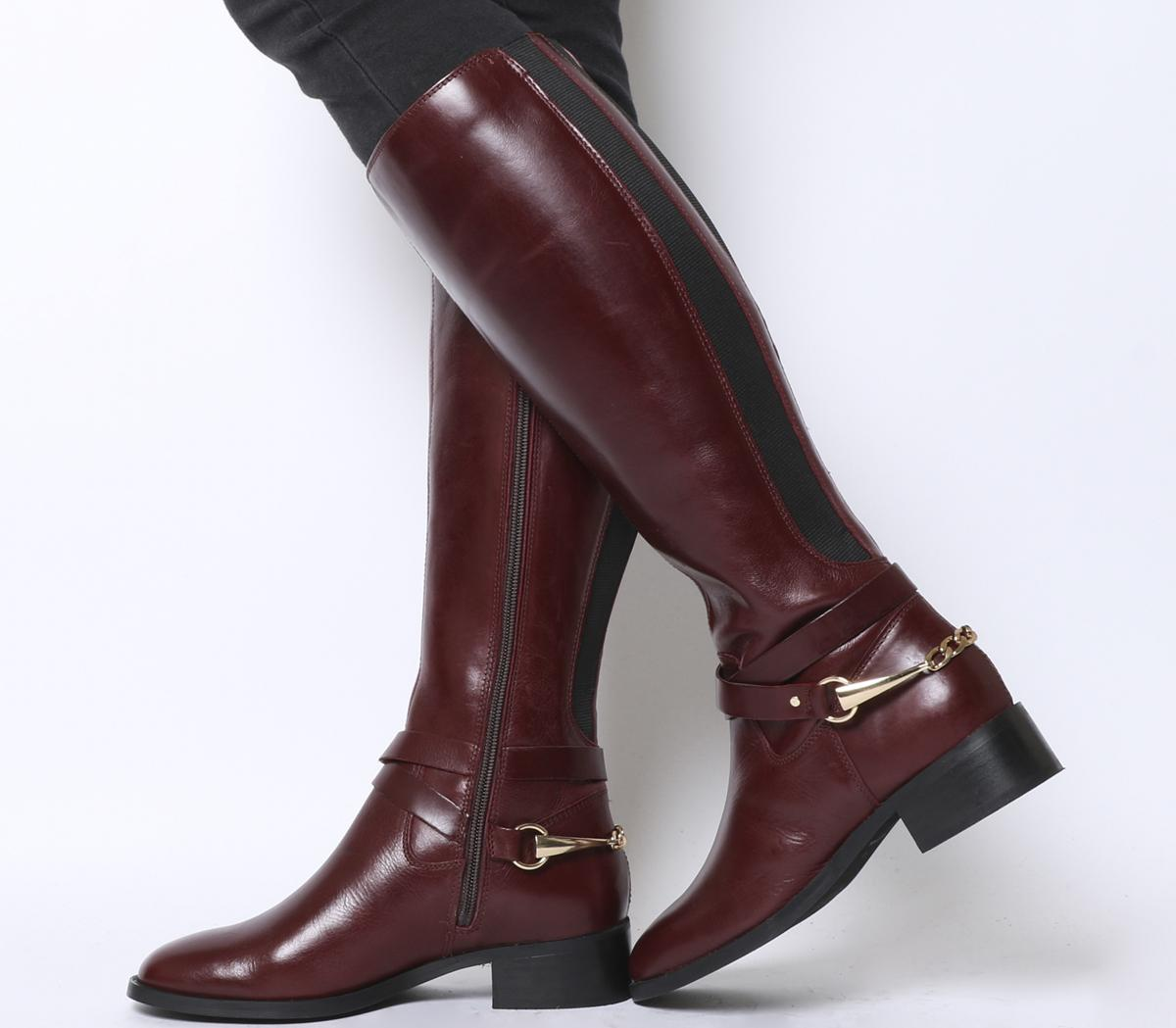 611c4b8b499fe4 Details about Womens Converse Burgundy Leather Zip Knee High Boots Size UK  6  Ex-Display
