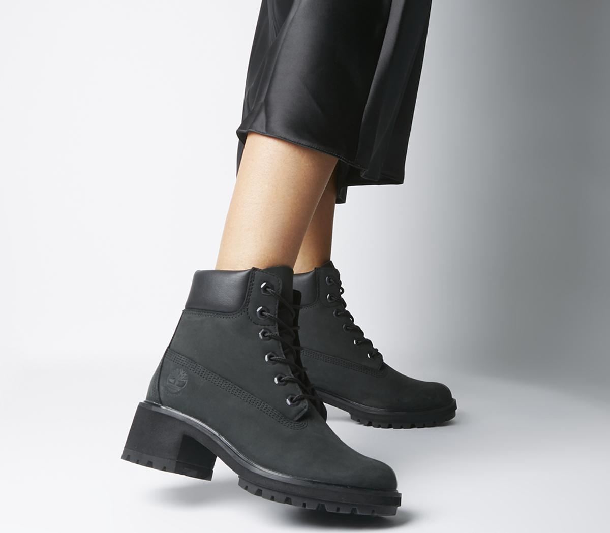 Womens Timberland Black Leather Lace Up