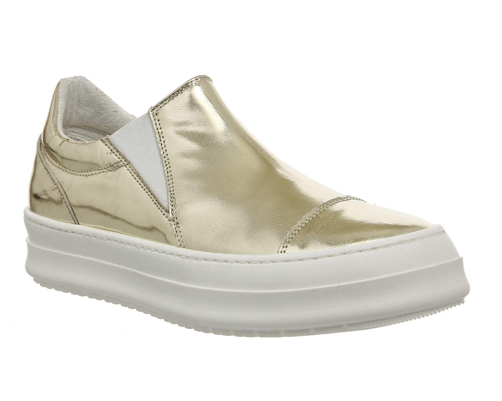 Oki Kutsu San Sneaker Womens Trainers Gold White Leather 2339894015