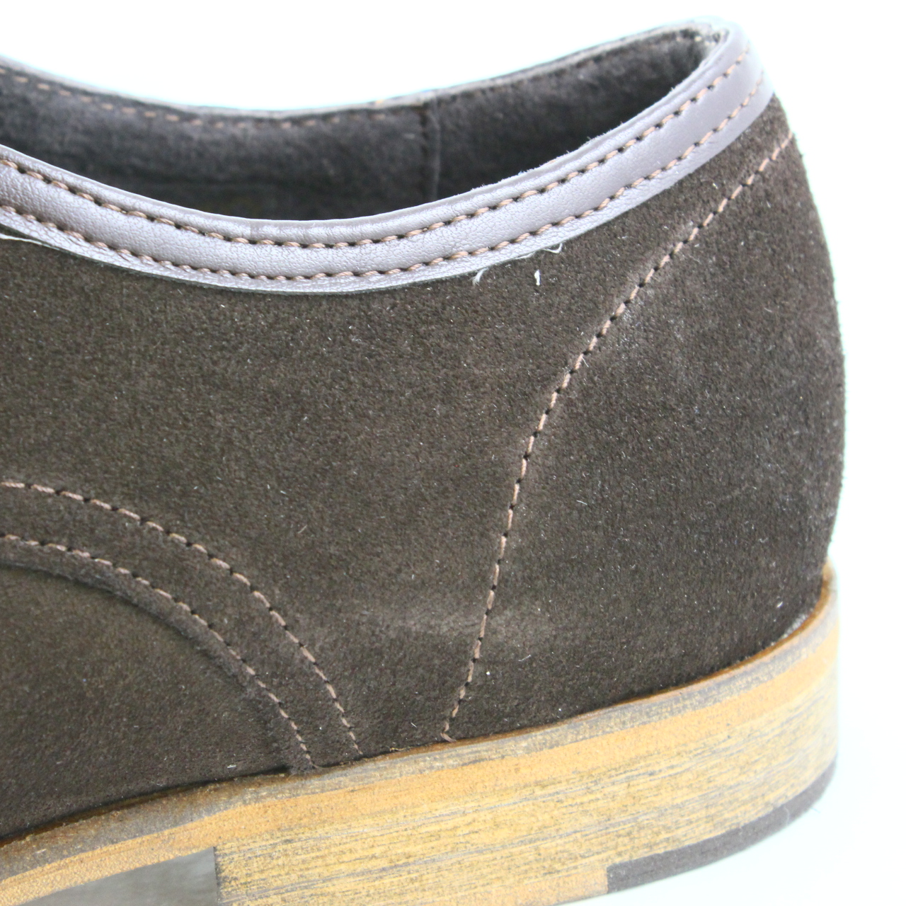 Mens Ask The Missus Brown Suede Lace Up Casual Shoes Size Uk 10 Ex D Island Slip On England Sentinel Display