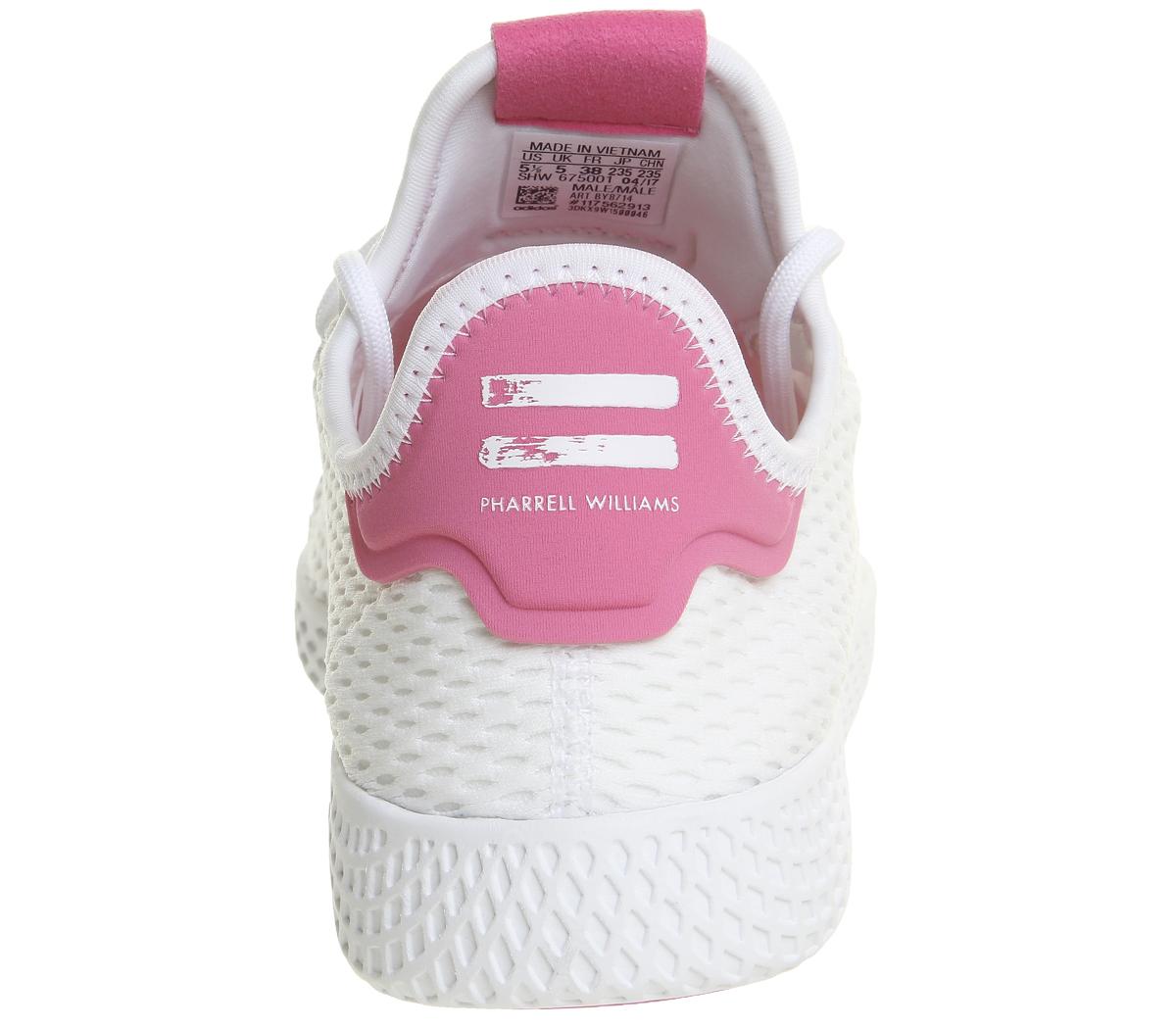 8959b6c3a Adidas Pw Tennis Hu WHITE SEMI SOLAR PINK Trainers Shoes