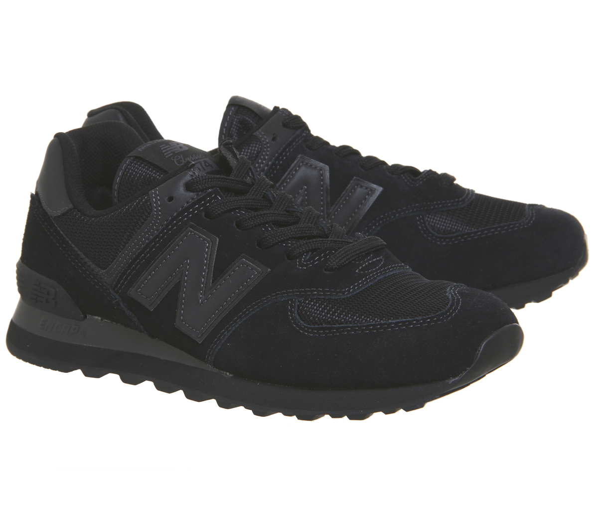 New Balance 574 Trainers BLACK Schuhes Trainers Schuhes BLACK ac6f89
