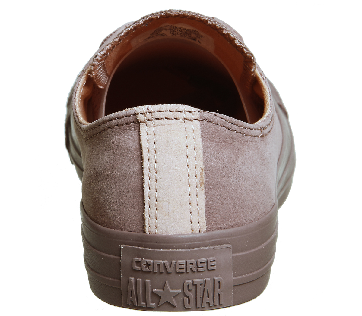 d0bec648f1cc6c Womens Converse All Star Low Leather Saddle Pale Coral Trainers ...