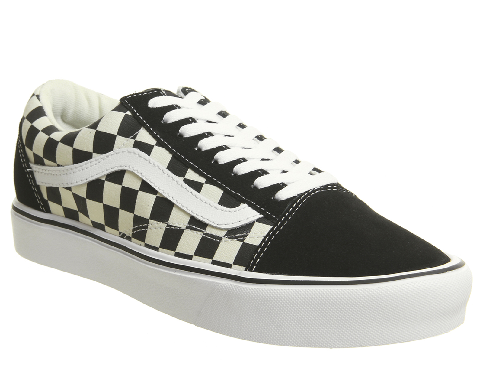 345e6ed8a5f Sentinel Mens Vans Old Skool Lite Black White Checkerboard Trainers Shoes