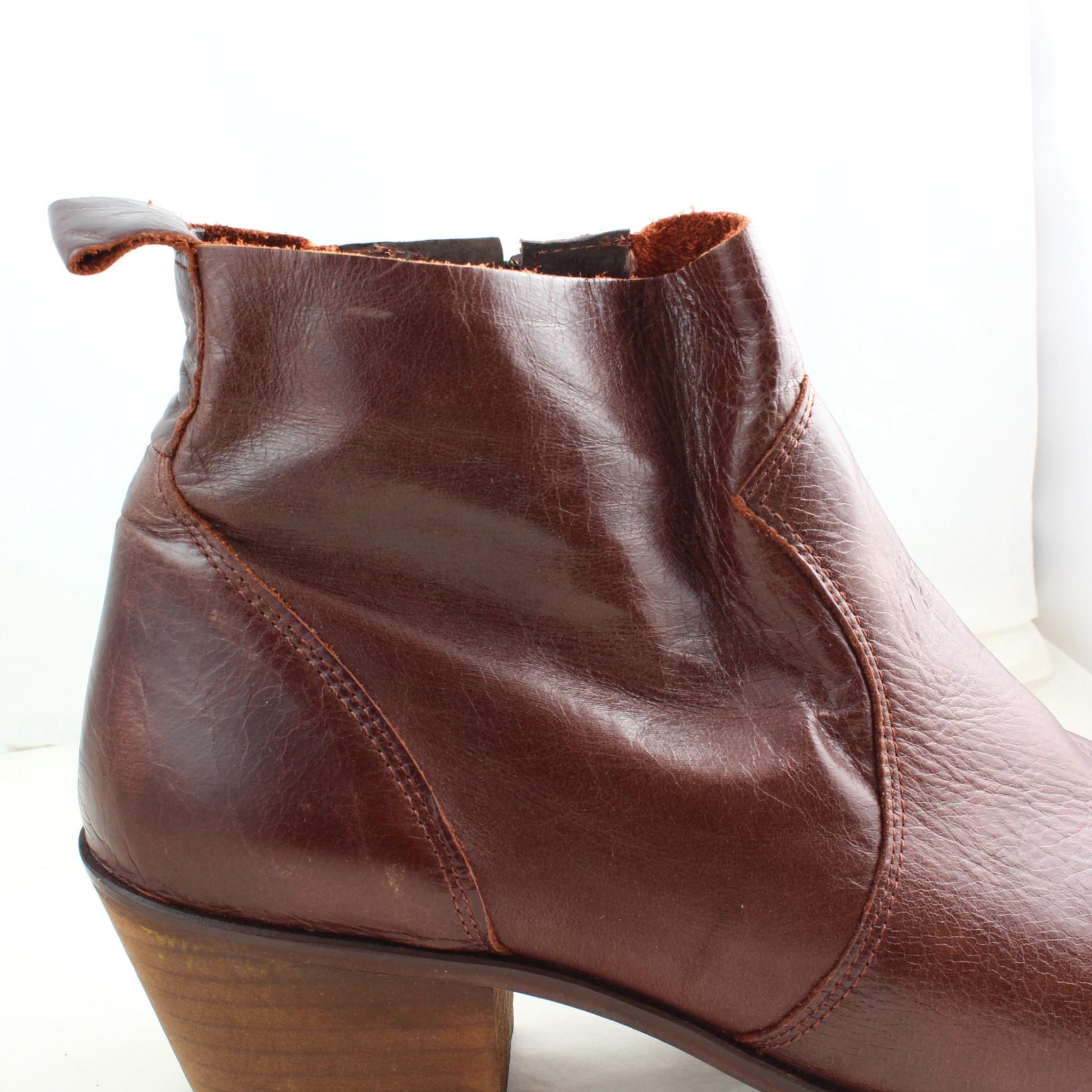 Damenschuhe Office Braun Leder zip Ankle Stiefel Größe Größe Stiefel UK 8  Ex Display ... 33fea4