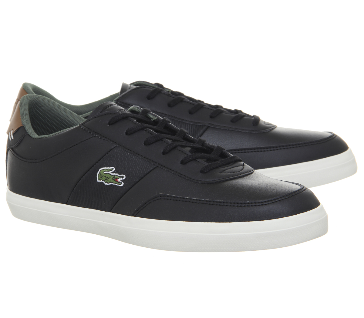 Lacoste Court BLACK Master Trainers BLACK Court BROWN Trainers Schuhes 6e16ea