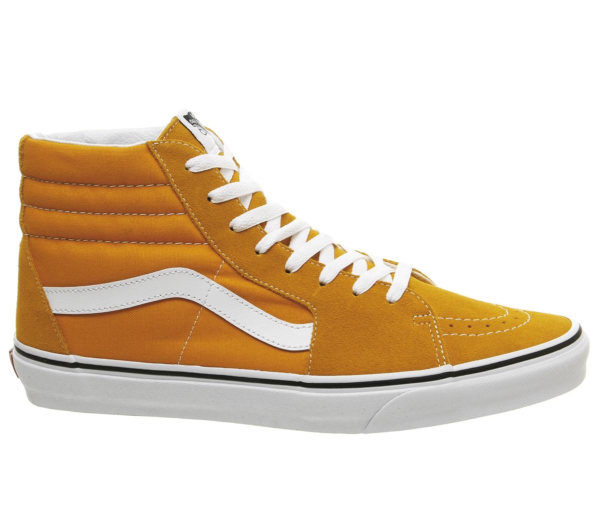 b6dadc05c5c SENTINELLE Vans Sk8 Hi formateurs Cheddar foncé véritable formateurs blanc  chaussures