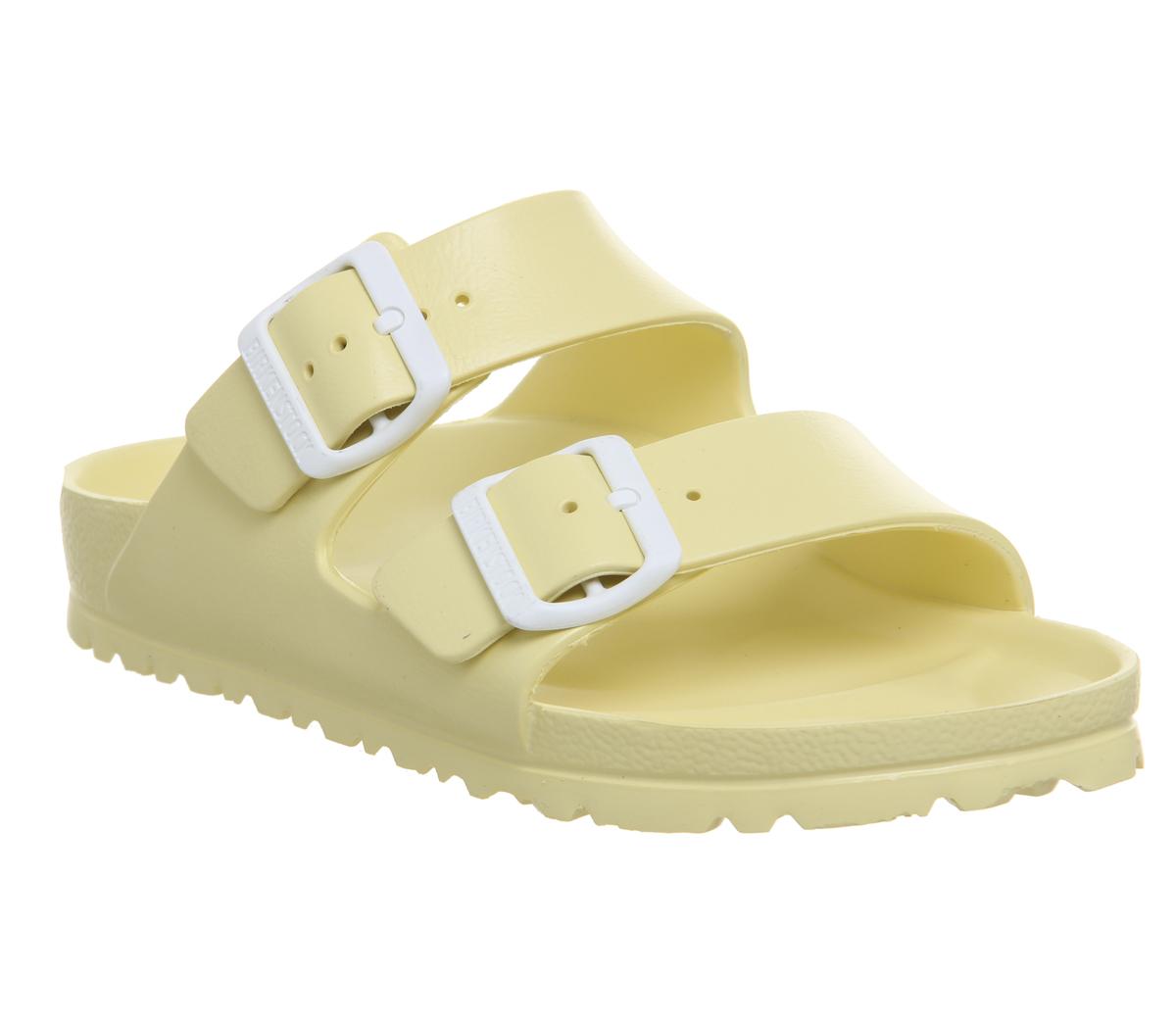 SENTINEL Womens Birkenstock Arizona due sandali con cinturino morbido  giallo Sandali EVA 2143f69fcd3