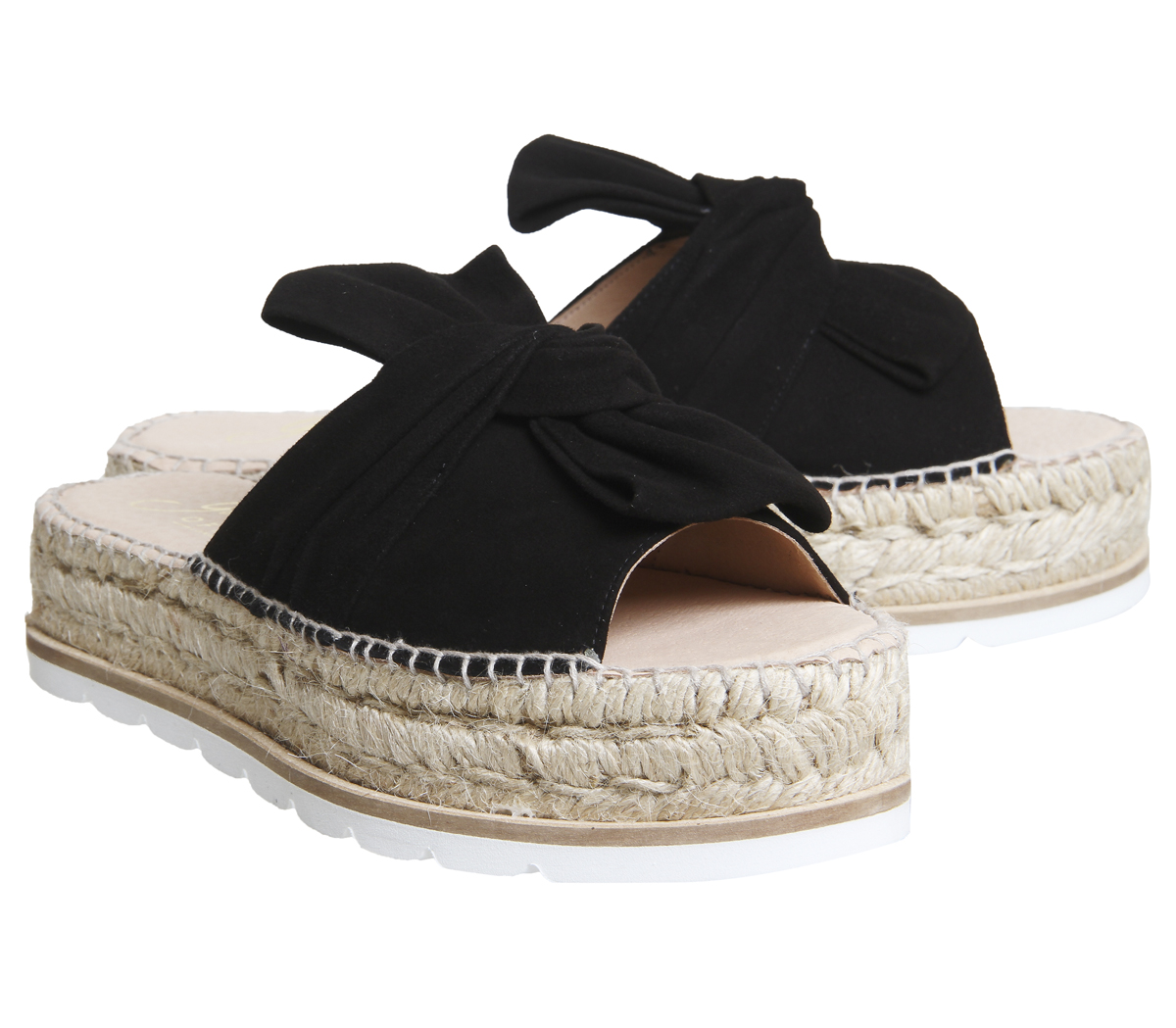 Damenschuhe Gaimo for OFFICE SUEDE Samanta Bow Flatform Sandales BLACK SUEDE OFFICE Heels 7ea336