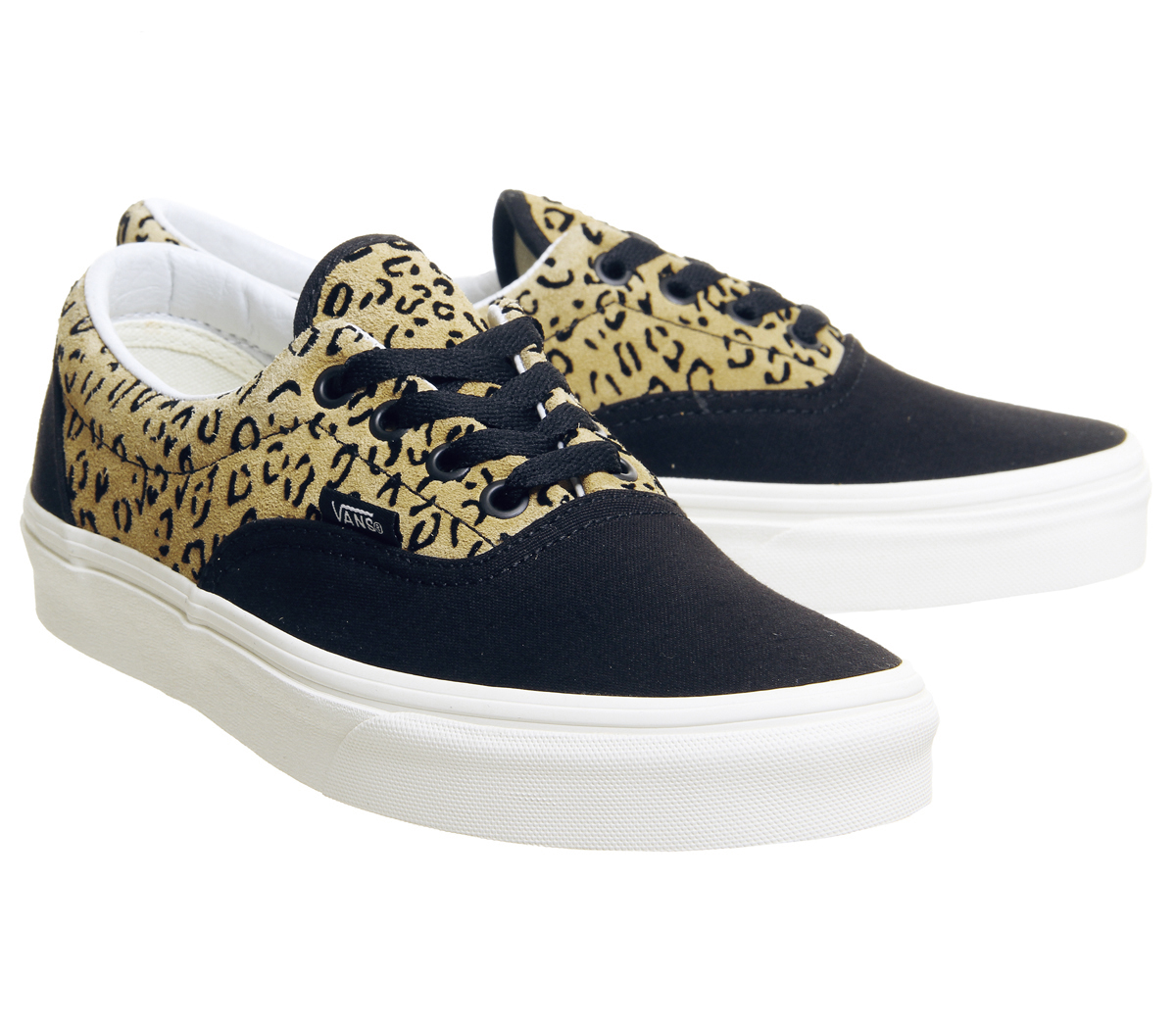 8649a710aa Mens Vans Era Trainers Leopard Black Taffy Marshmellow Exclusive ...