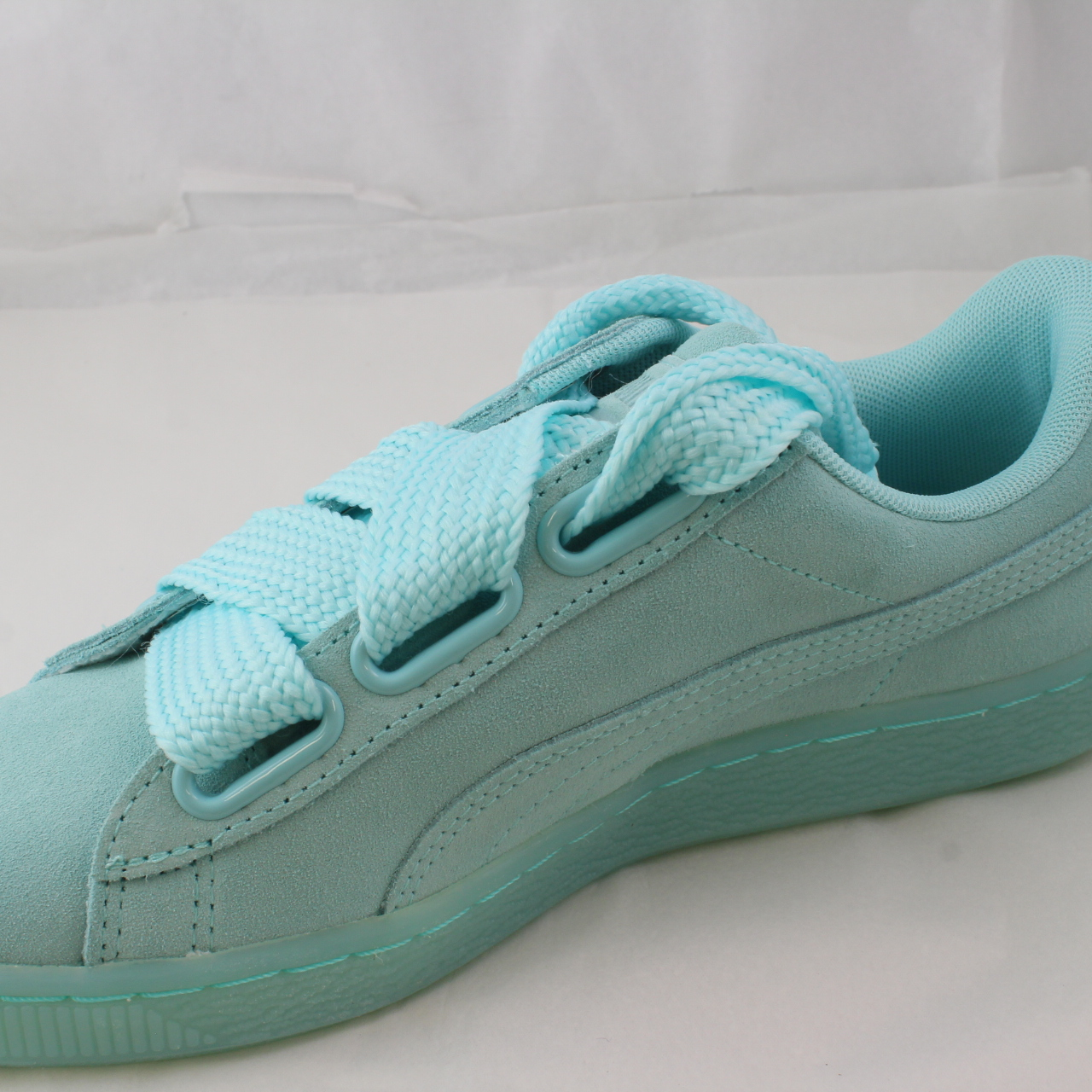 Sentinel Womens Puma Green Suede Lace Up Trainers Size UK 4.5   Ex Display a72098823
