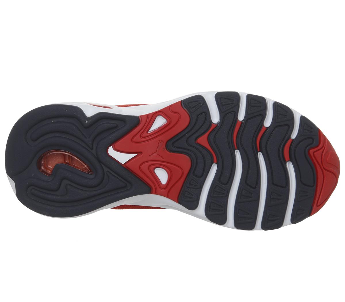 Homme-Puma-Cell-Viper-Baskets-PUMA-blanc-Risque-Eleve-Rouge-Baskets miniature 10