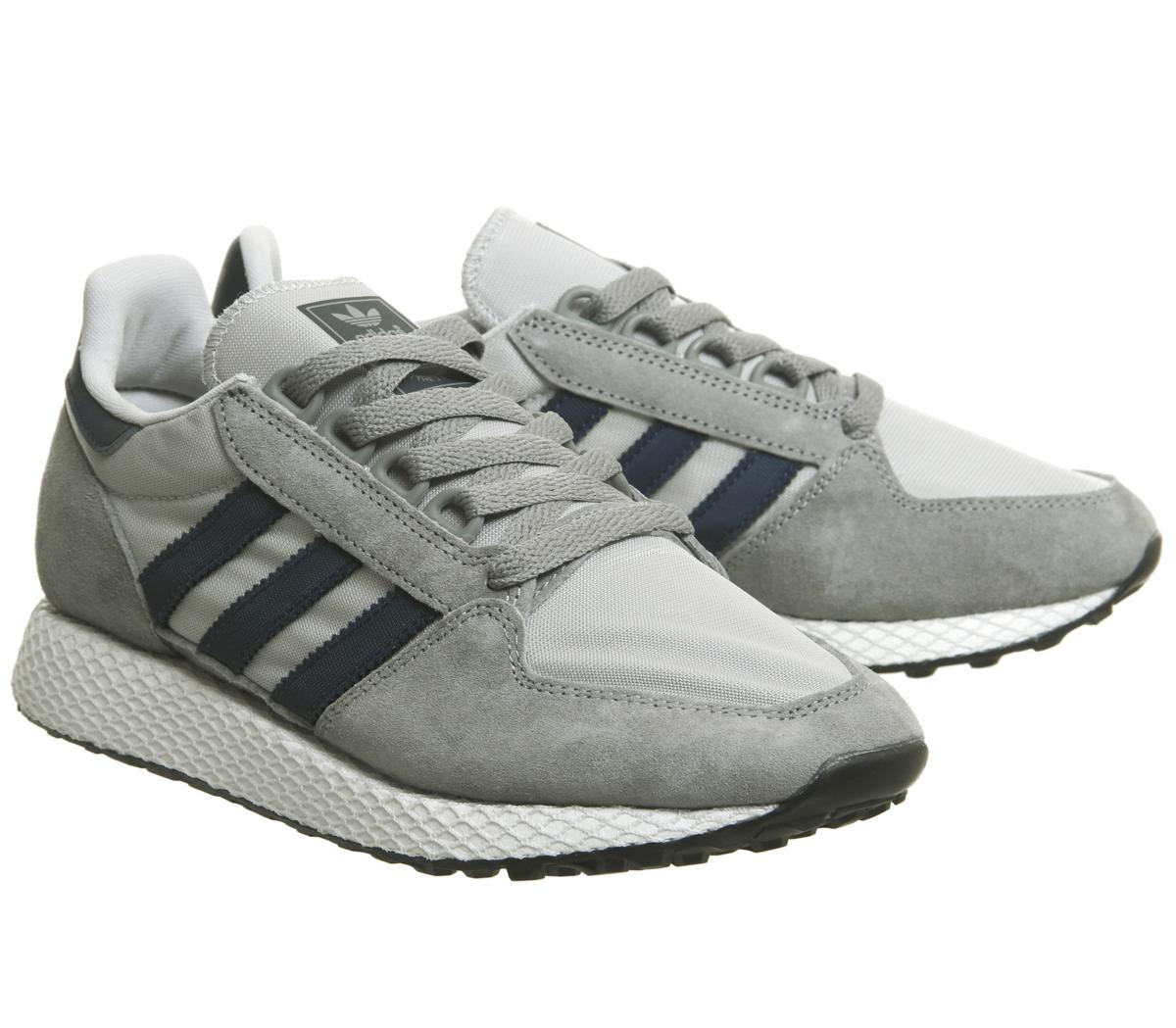 timeless design 16793 b7b4f Womens-Adidas-Forest-Grove-Trainers-Grey-Three-Collegiate-