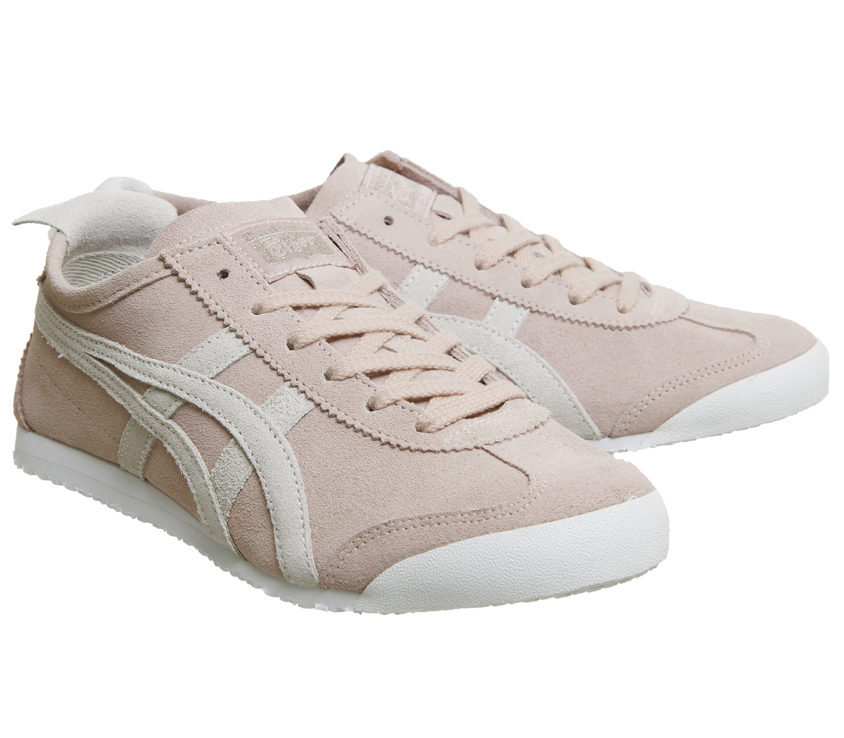 75d3af08ba Womens Onitsuka Tiger Mexico 66 Trainers Pink Grey Suede Trainers ...