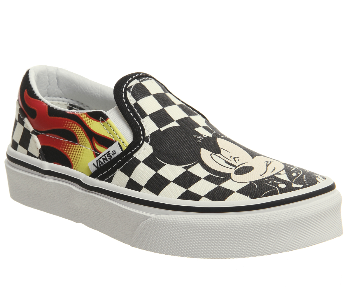 095b57ffc5a08 Sentinel Kids Vans Classic Slip On Kids Trainers Mickey And Minnie Checker  Flame Disney K