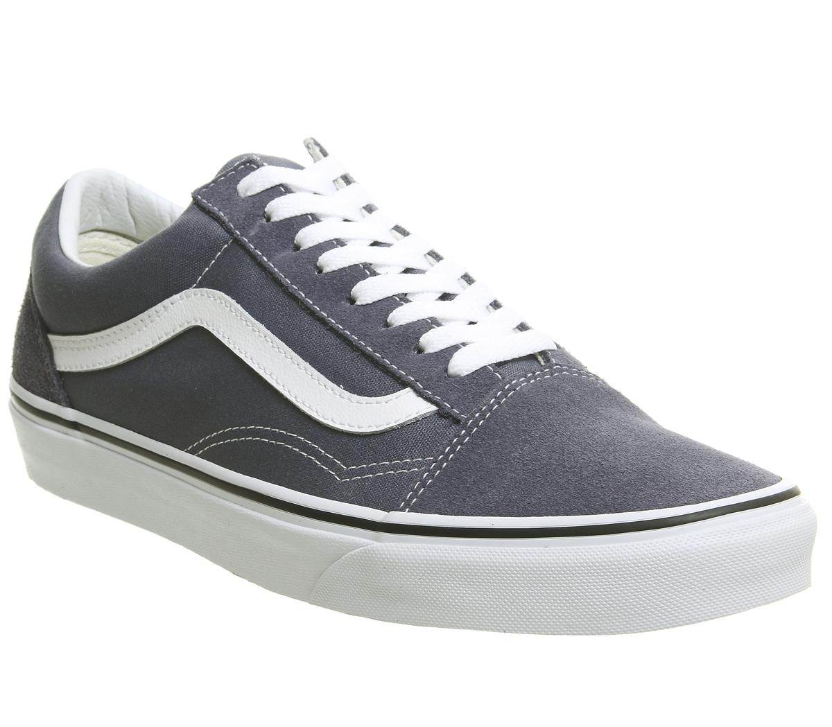 SENTINEL Mens Vans Old Skool formatori GRISAILLE formatori scarpe bianco d133eb4f024