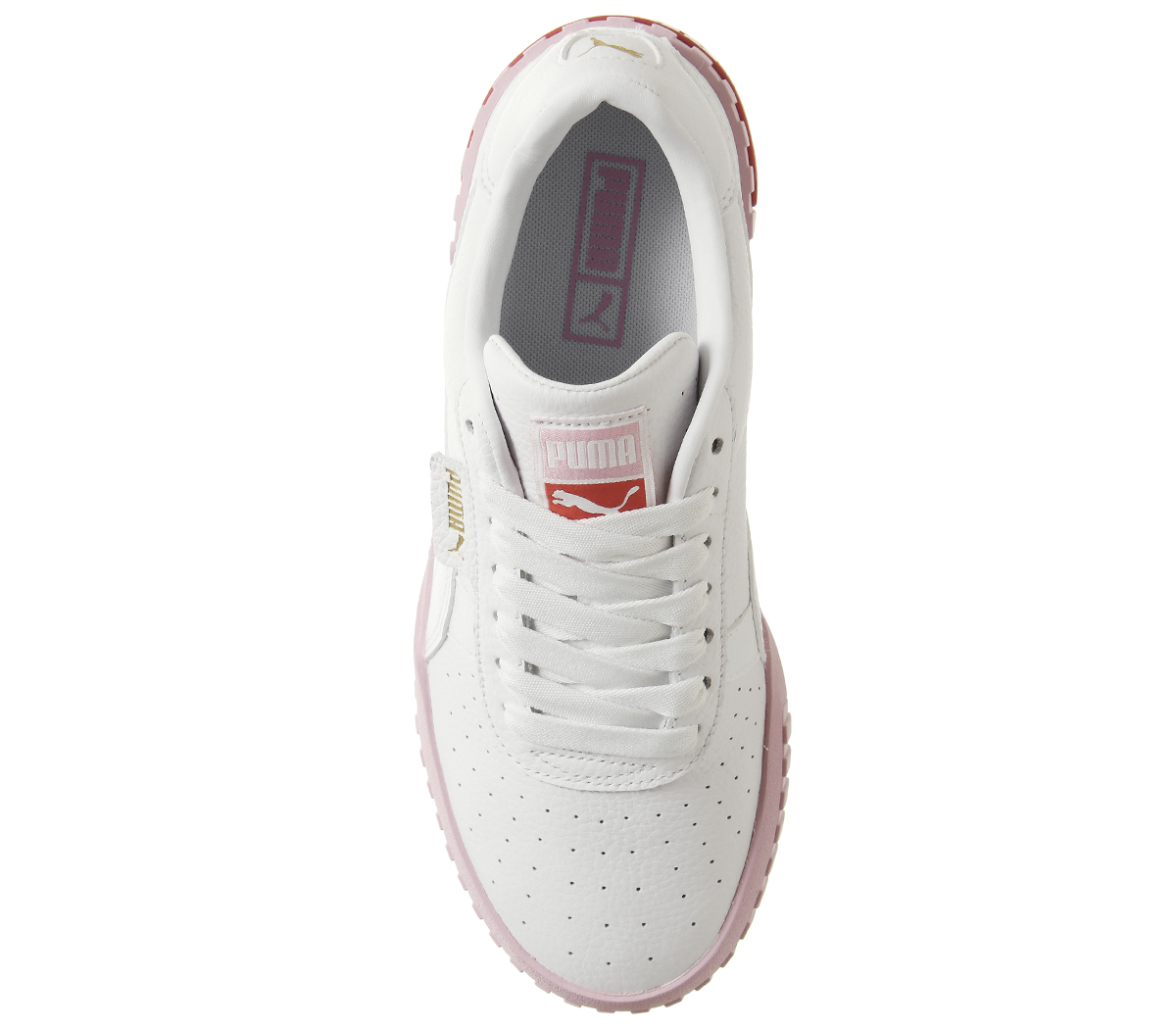 Details about Womens Puma Cali Trainers Puma White Pink Trainers Shoes 9541adcc7