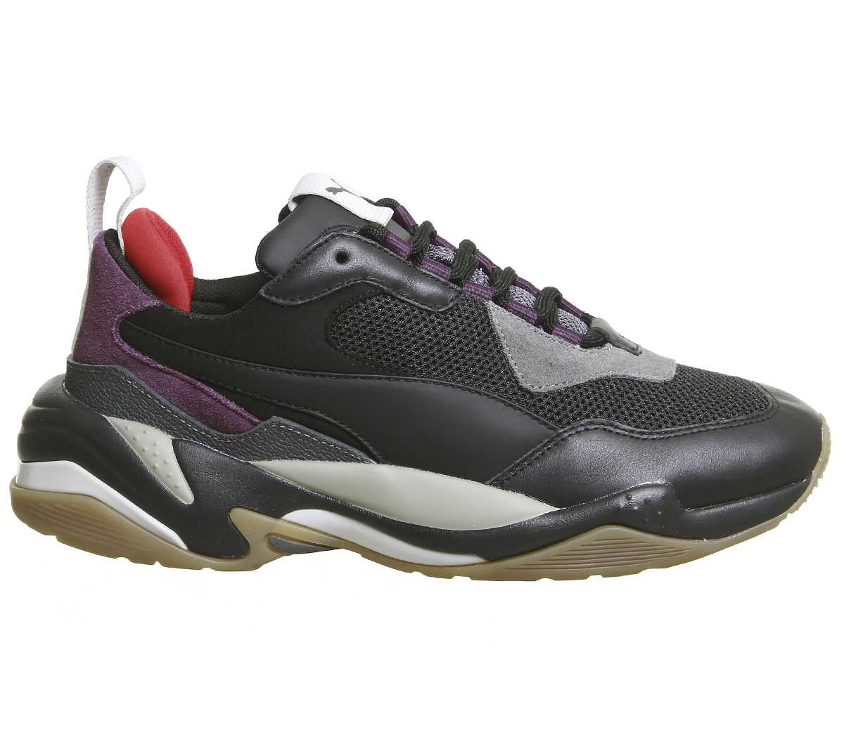 Sentinel Mens Puma Thunder Spectra Trainers Black Grey Purple Gum Trainers  Shoes 2d394b8eb
