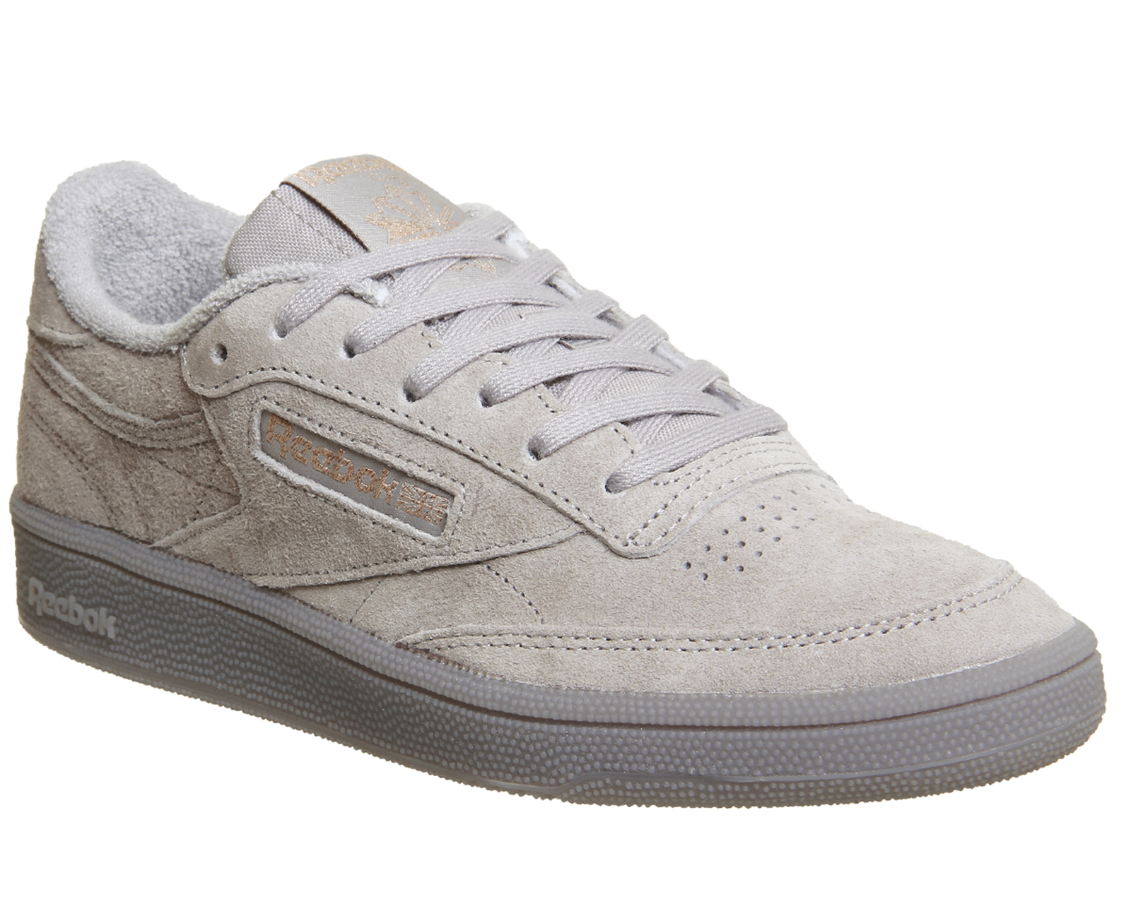 5b2f4ea32f5 Sentinel Womens Reebok Club C 85 Trainers SKULL GREY ROSE GOLD EXCLUSIVE Trainers  Shoes