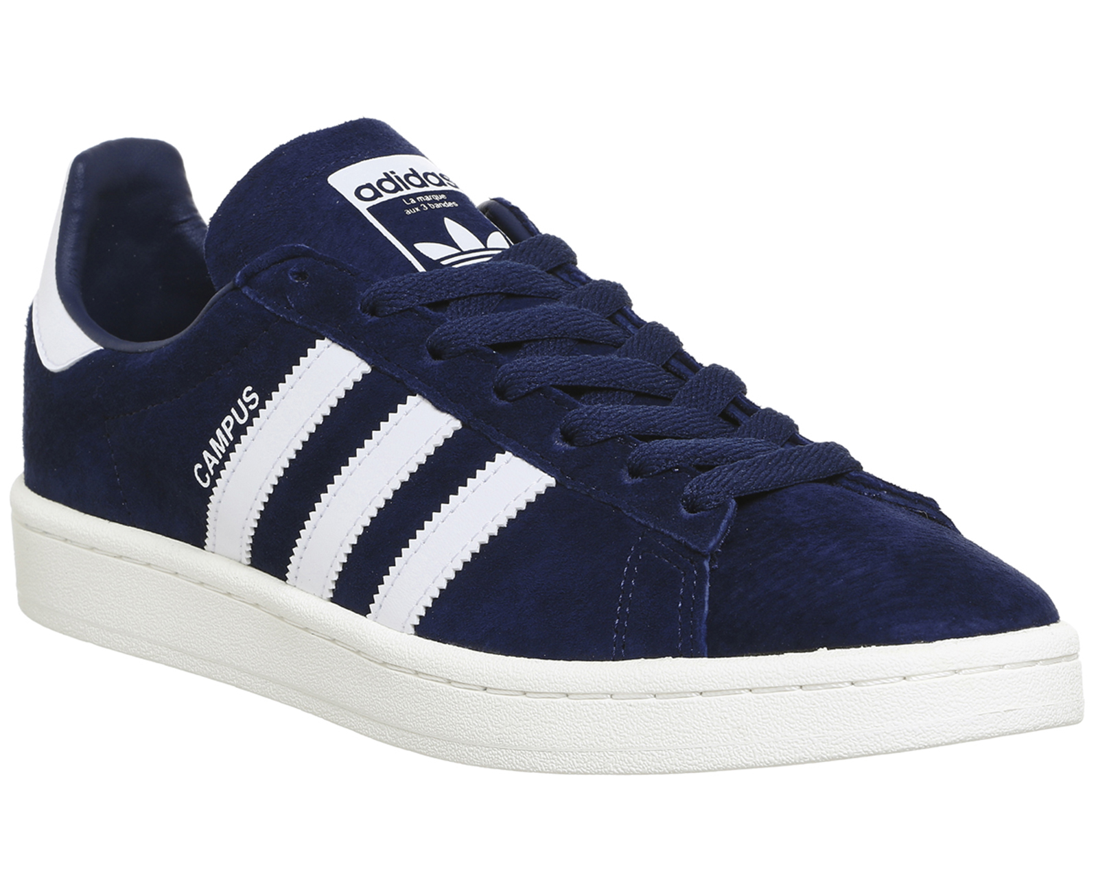 Details about Mens Adidas Campus Dark Blue White Trainers Shoes