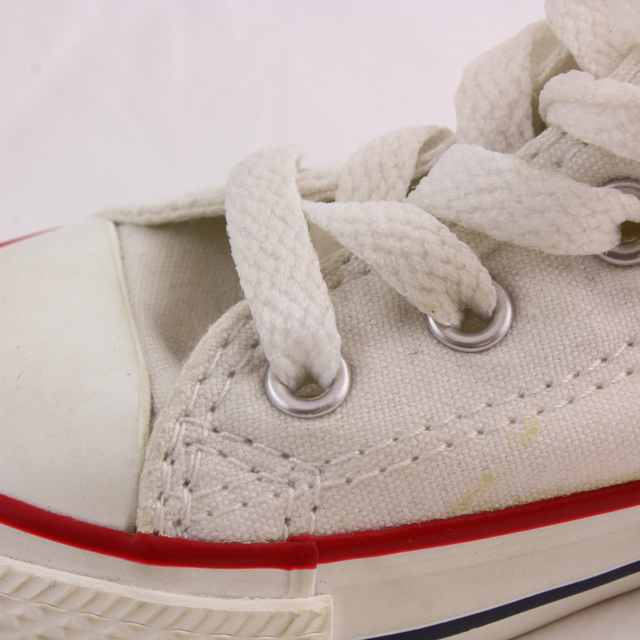 401500a532609d Sentinel Kids Converse White Textile Lace Up Kids Size UK 8 Infant  Ex- Display. Sentinel Thumbnail 6